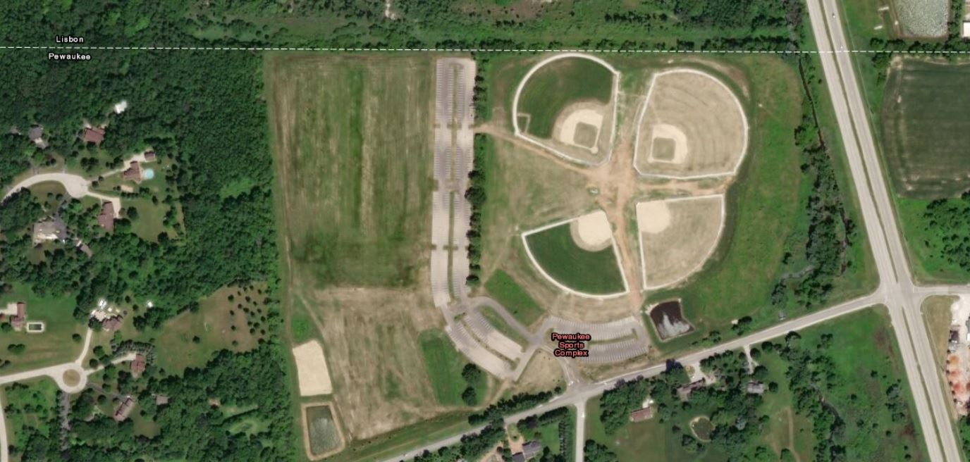 Picture of map of Pewaukee Sports Complex
